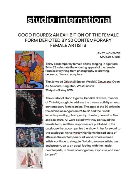 Good Figures: An exhibition of the female form depicted by 30 contemporary female artists