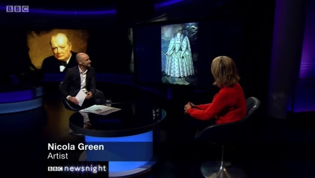 Nicola Green discussing the official White House portrait